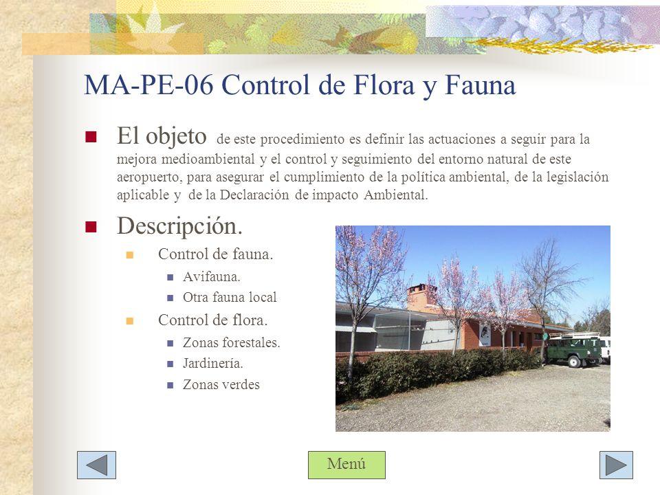 MA-PE-06 Control de Flora y Fauna
