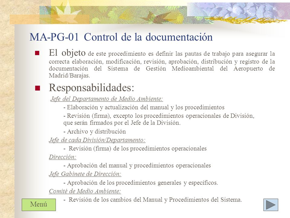MA-PG-01 Control de la documentación