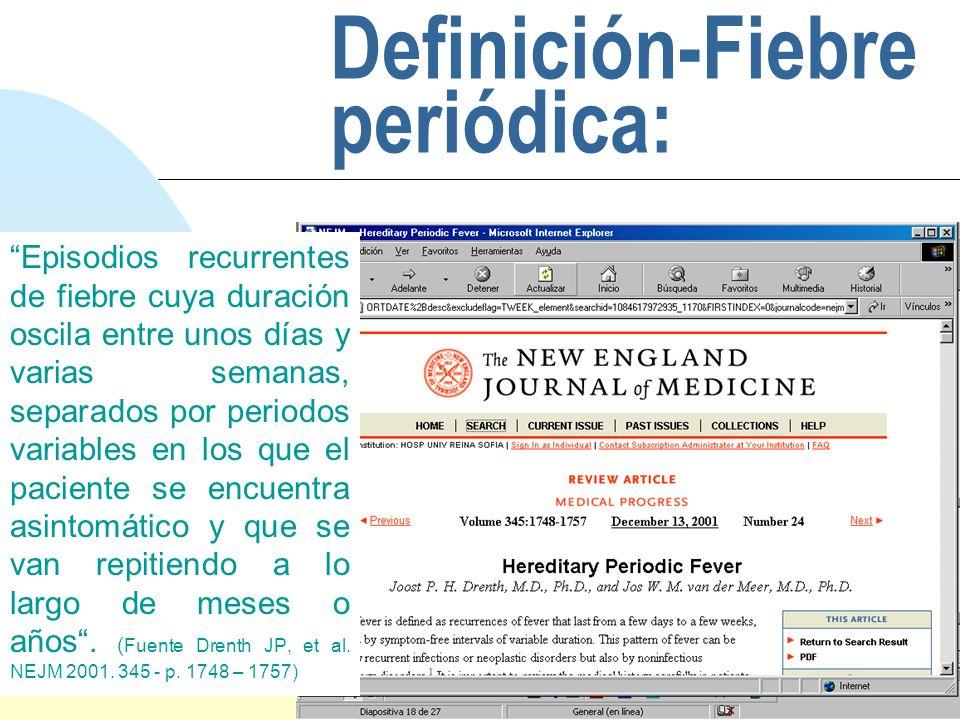 Definición-Fiebre periódica: