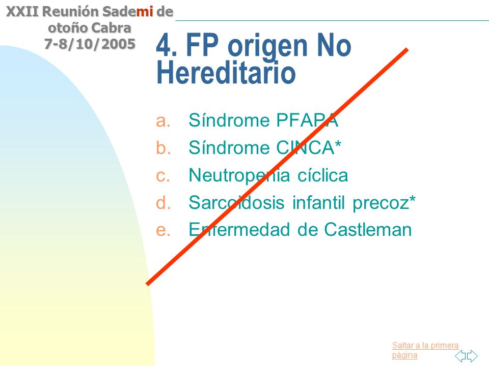 4. FP origen No Hereditario