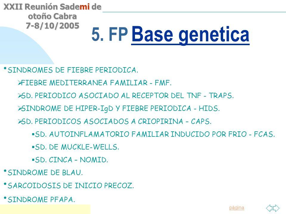 Base genetica 5. FP Origen Hereditario Fiebre mediterránea familiar