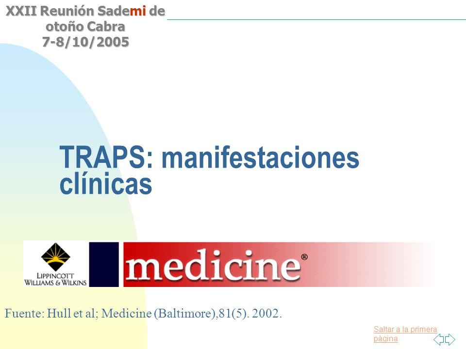 TRAPS: manifestaciones clínicas