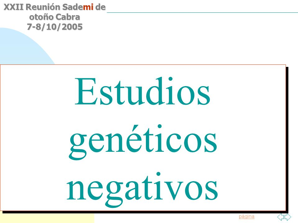 Estudios genéticos negativos