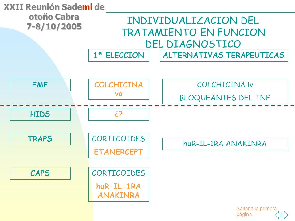 INDIVIDUALIZACION DEL TRATAMIENTO EN FUNCION DEL DIAGNOSTICO