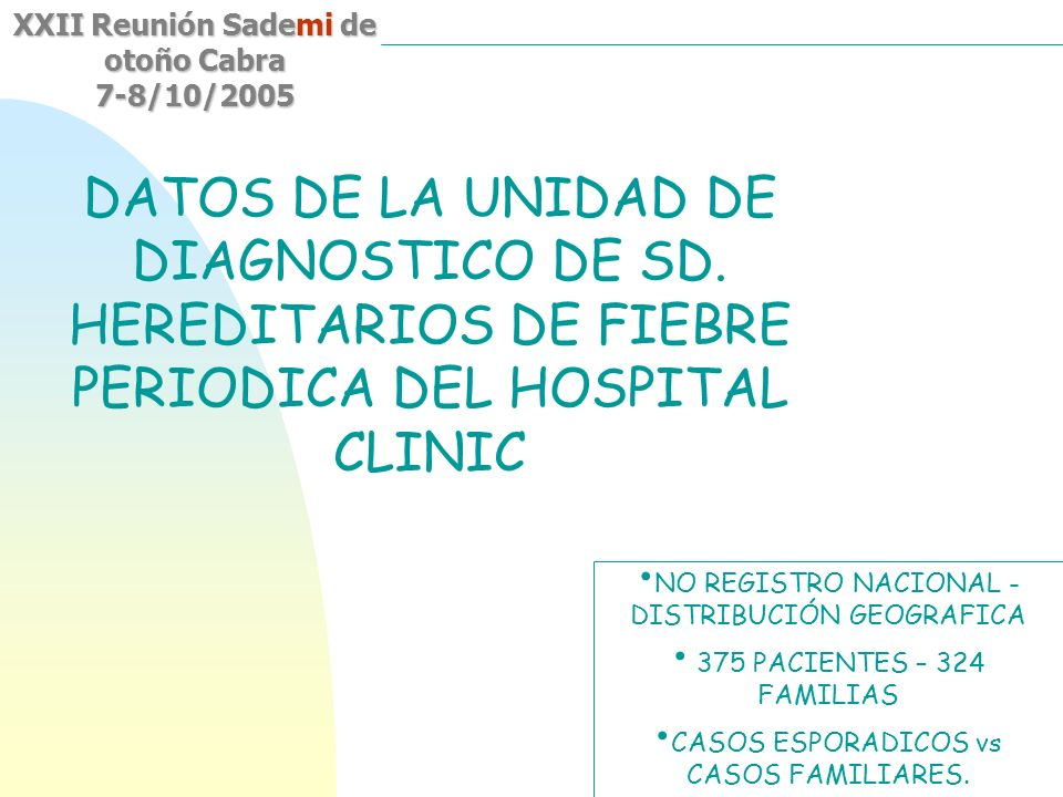 DATOS DE LA UNIDAD DE DIAGNOSTICO DE SD