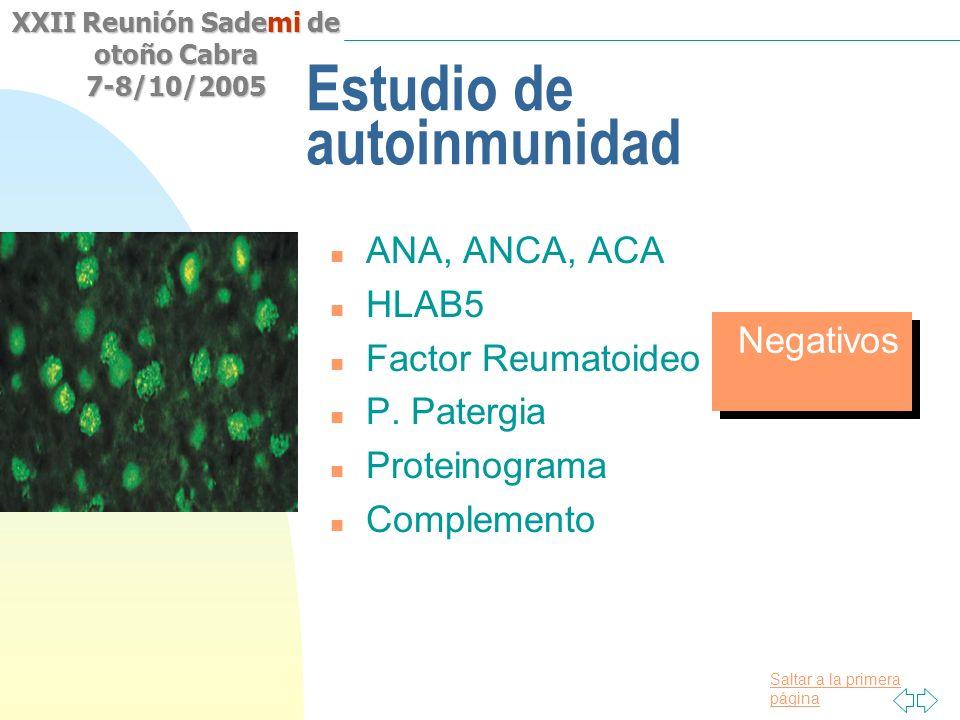 Estudio de autoinmunidad
