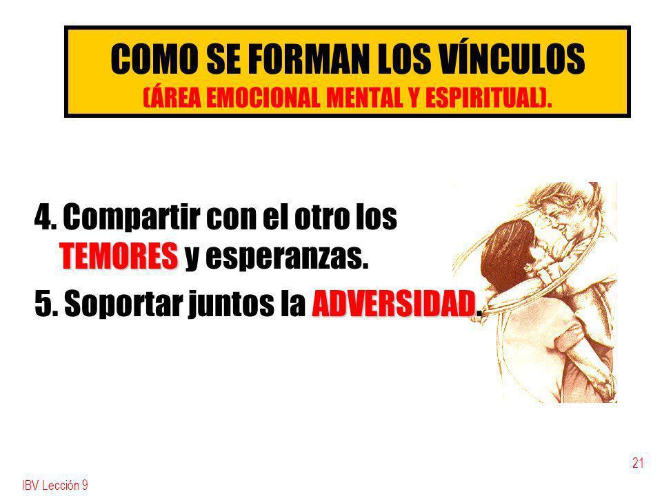 COMO SE FORMAN LOS VÍNCULOS (ÁREA EMOCIONAL MENTAL Y ESPIRITUAL).