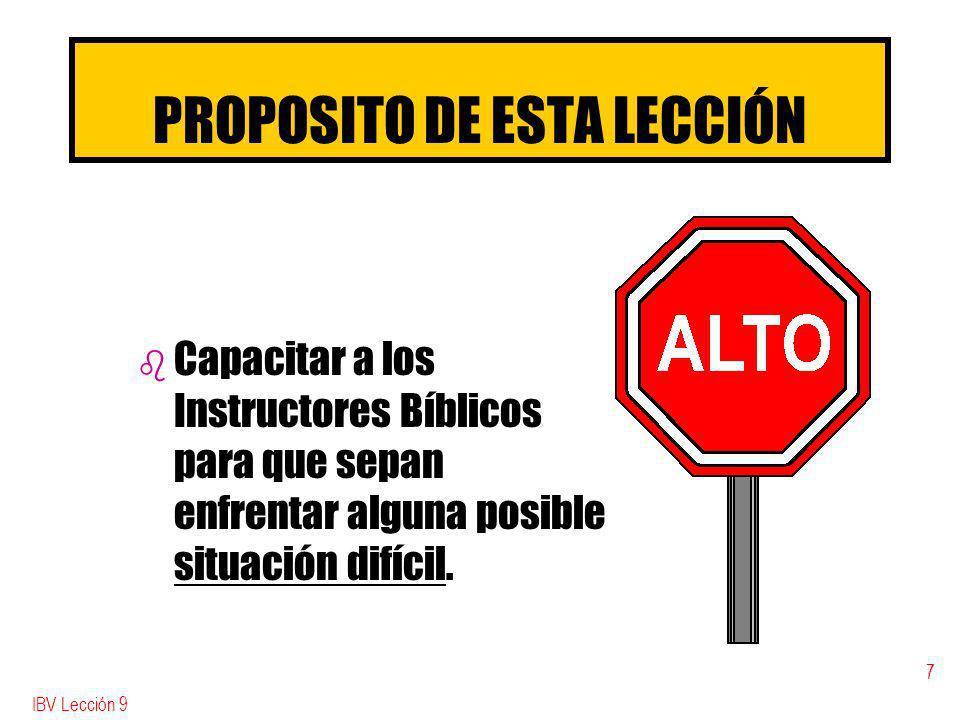 PROPOSITO DE ESTA LECCIÓN