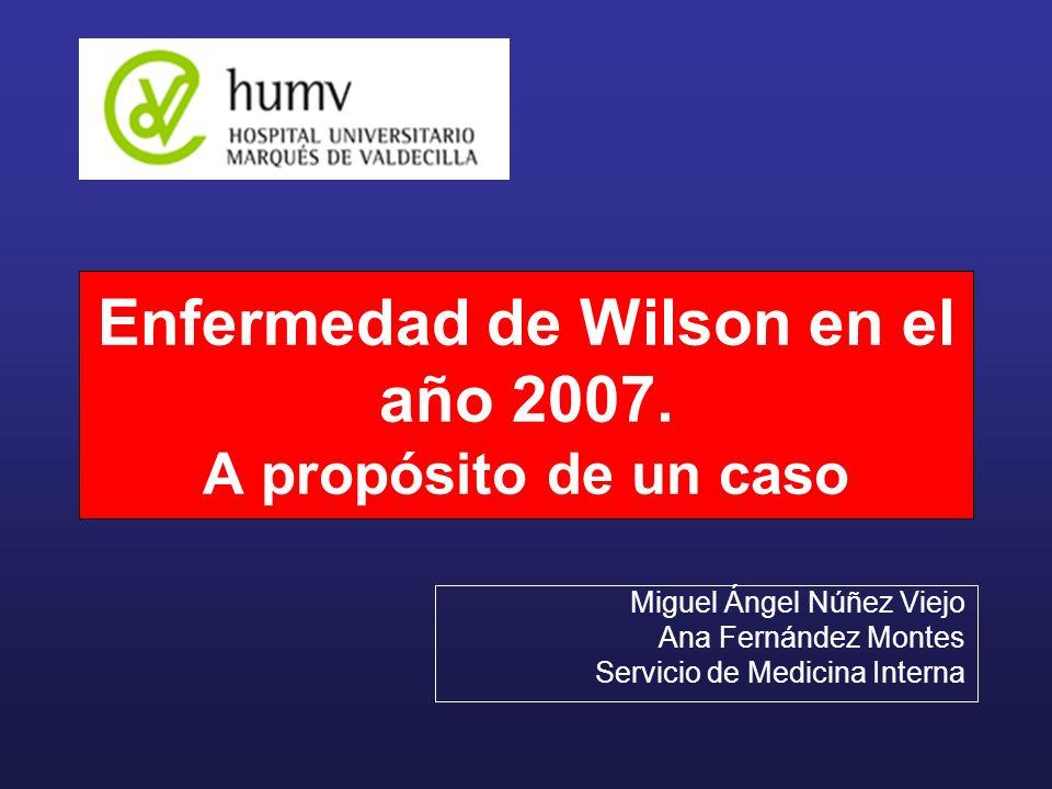 Enfermedad de Wilson en el año 2007. A propósito de un caso
