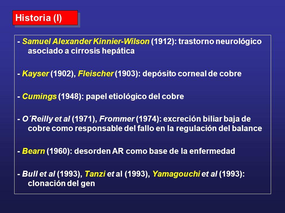 Historia (I) - Samuel Alexander Kinnier-Wilson (1912): trastorno neurológico asociado a cirrosis hepática.