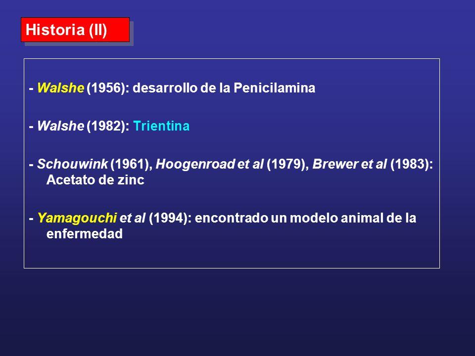 Historia (II) - Walshe (1956): desarrollo de la Penicilamina