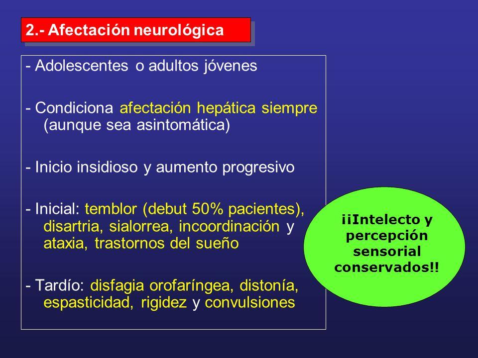 ¡¡Intelecto y percepción sensorial conservados!!