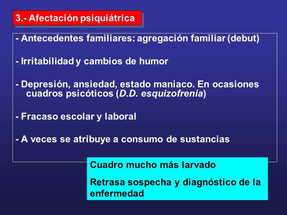 3.- Afectación psiquiátrica