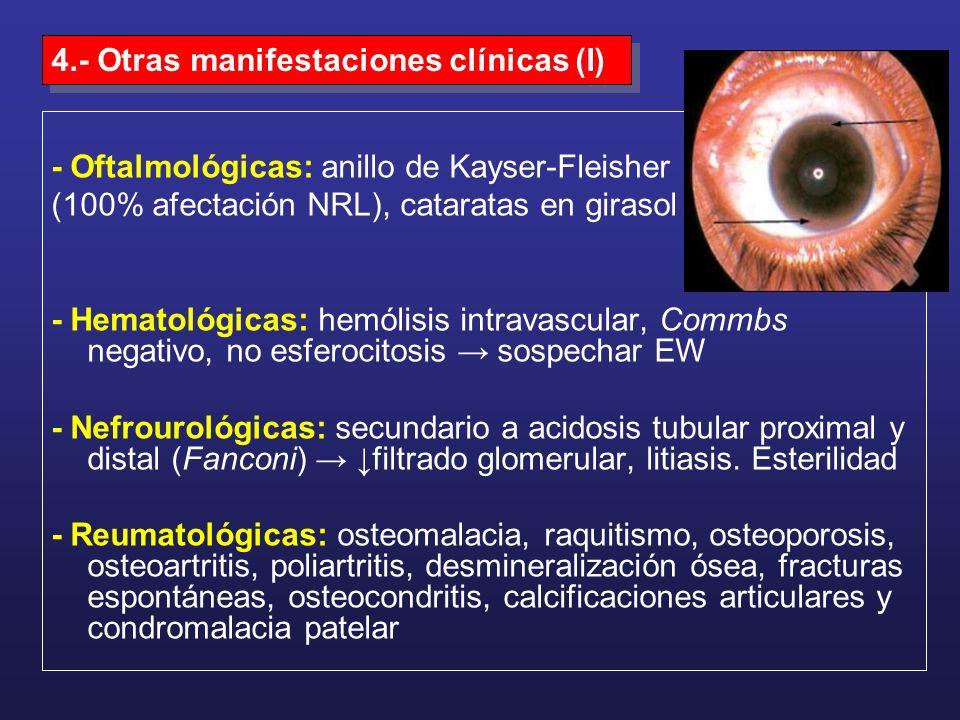 4.- Otras manifestaciones clínicas (I)