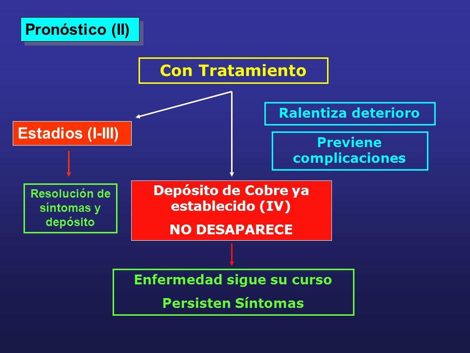 Pronóstico (II) Con Tratamiento Estadios (I-III) Ralentiza deterioro