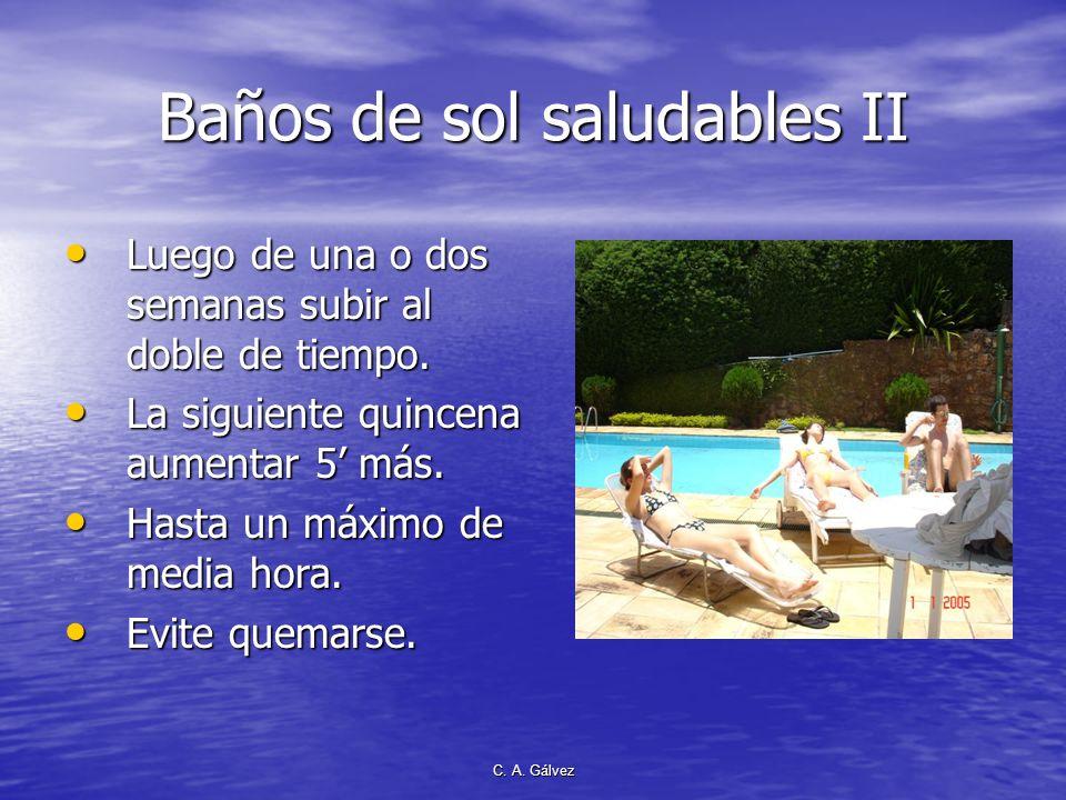 Baños de sol saludables II