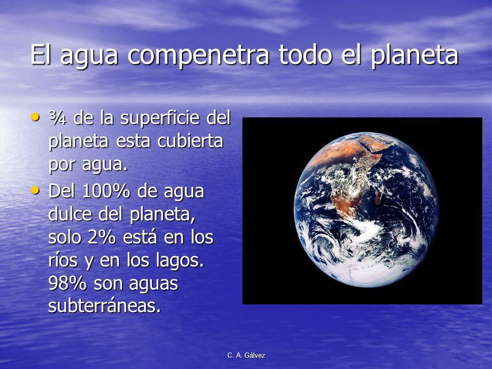 El agua compenetra todo el planeta