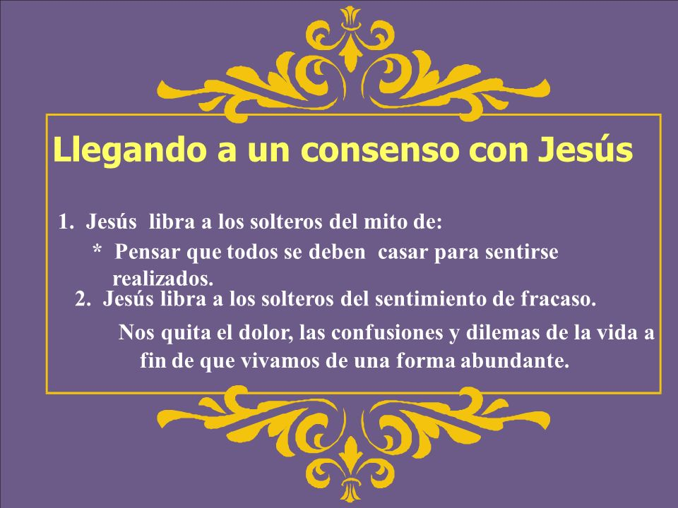 Llegando a un consenso con Jesús