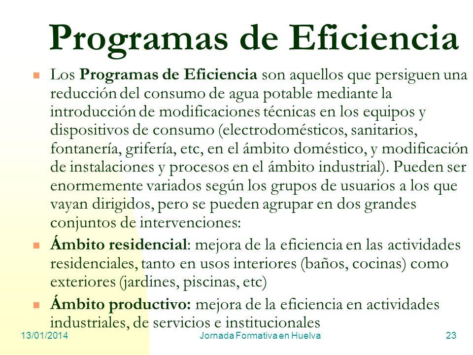 Programas de Eficiencia