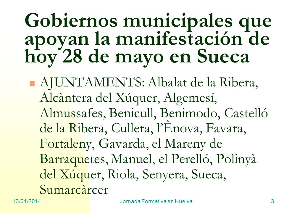 Jornada Formativa en Huelva