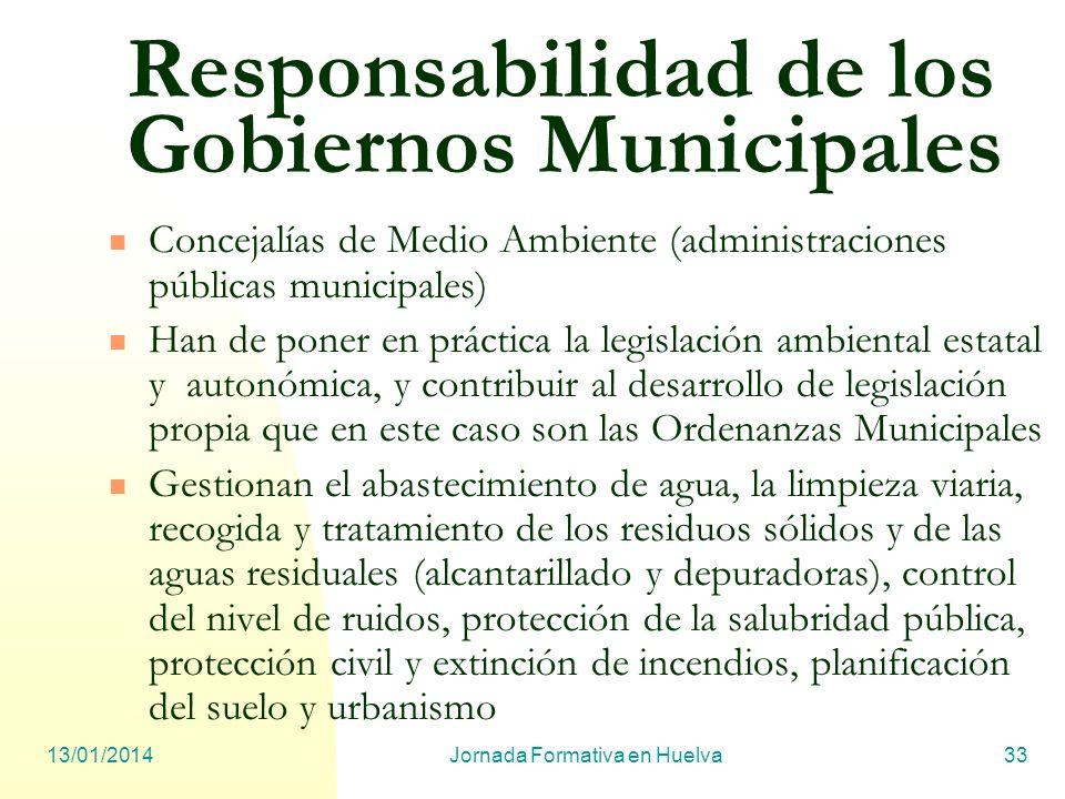 Responsabilidad de los Gobiernos Municipales