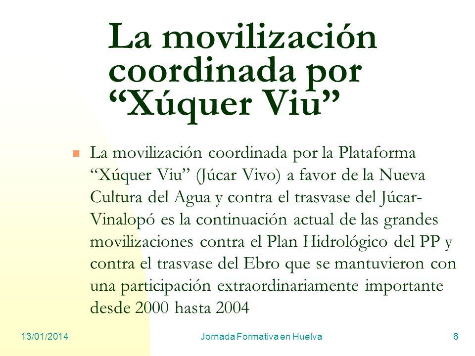 La movilización coordinada por Xúquer Viu