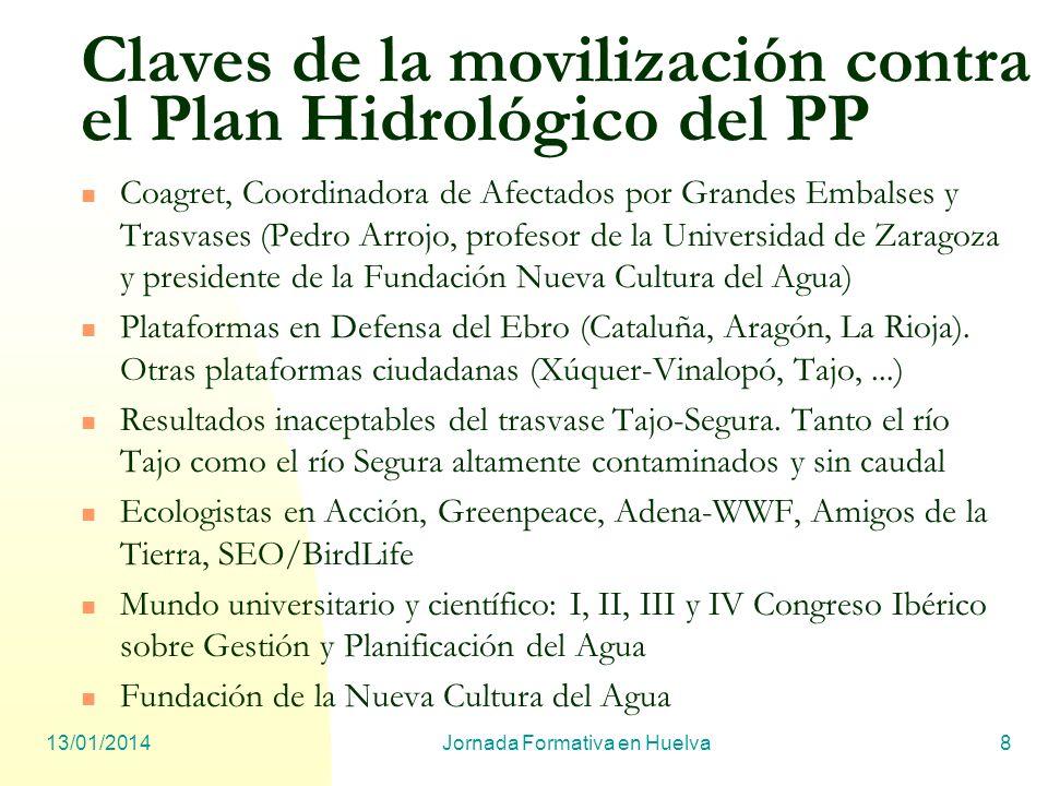 Claves de la movilización contra el Plan Hidrológico del PP
