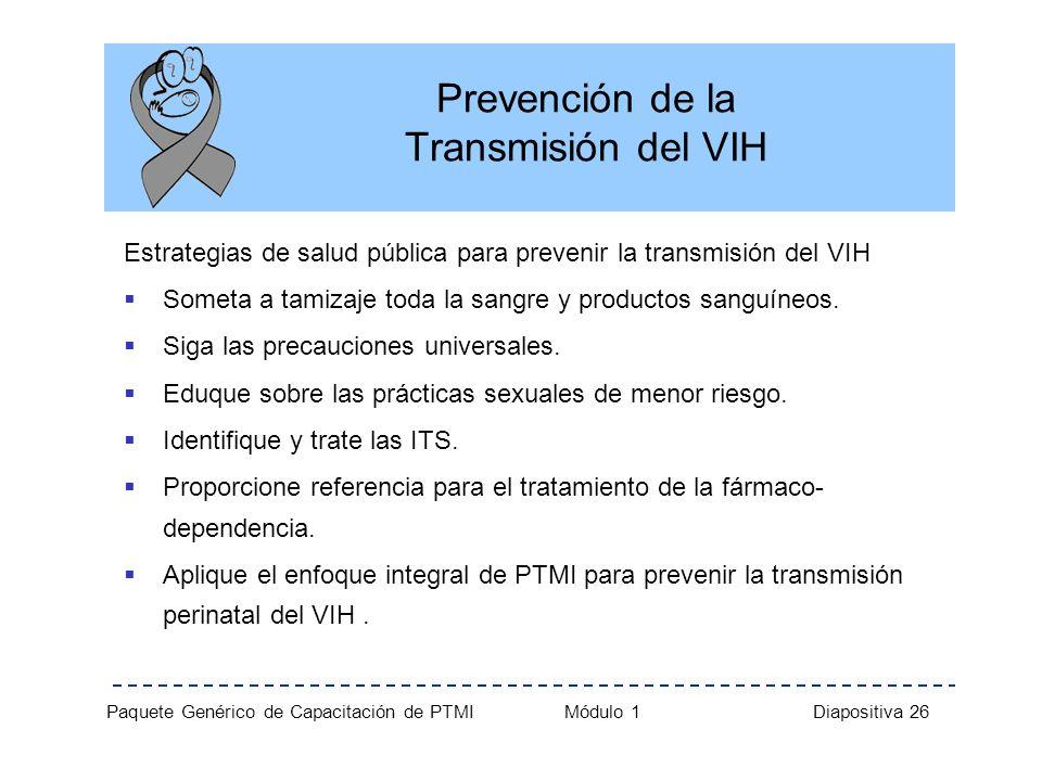 Prevención de la Transmisión del VIH