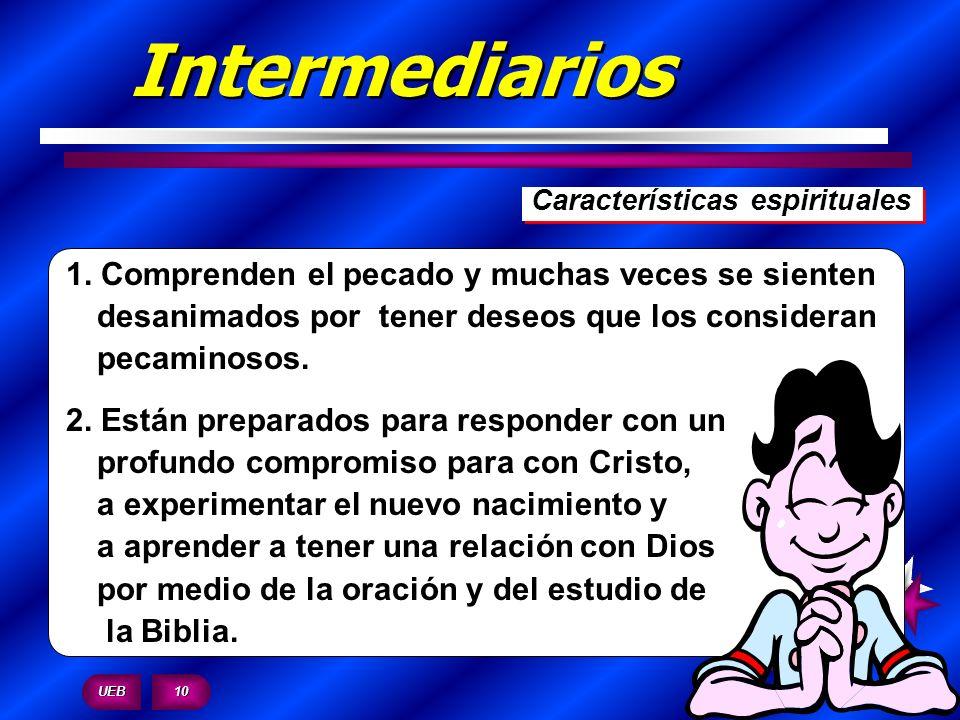 Intermediarios Características espirituales.