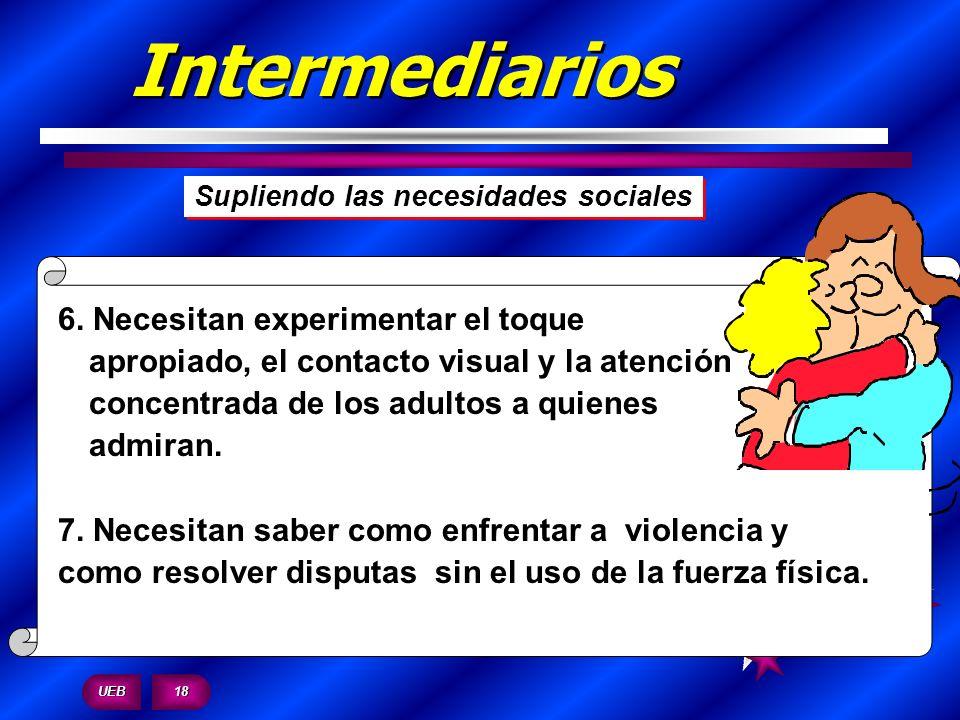 Intermediarios Supliendo las necesidades sociales.
