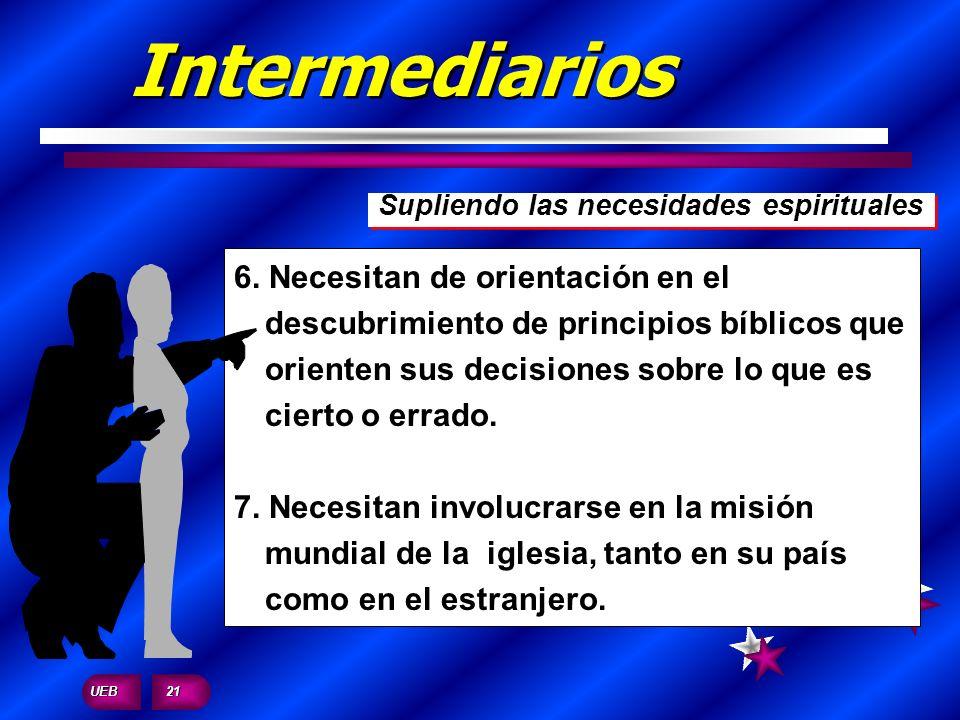 Intermediarios Supliendo las necesidades espirituales.