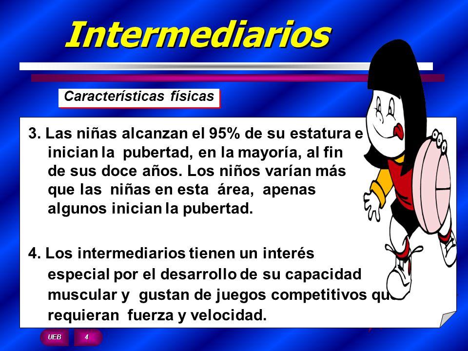 Intermediarios Características físicas.