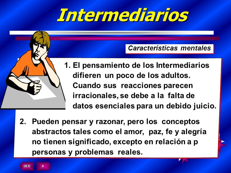 Intermediarios Características mentales.