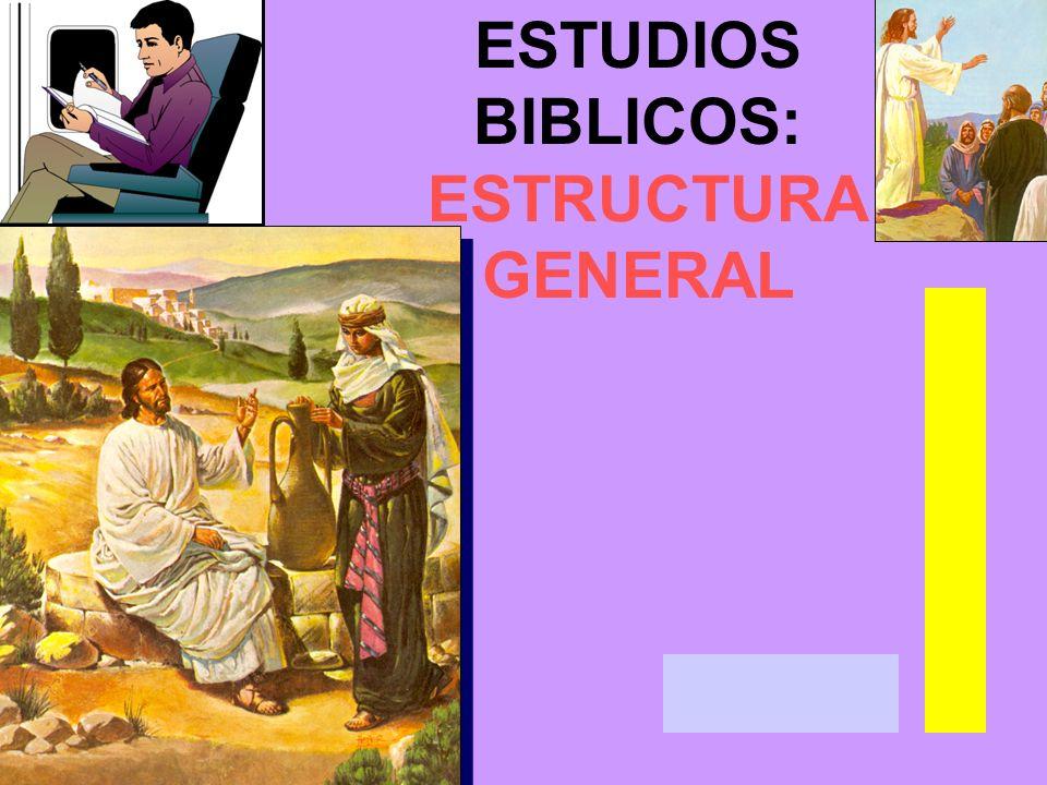 ESTUDIOS BIBLICOS: ESTRUCTURA GENERAL