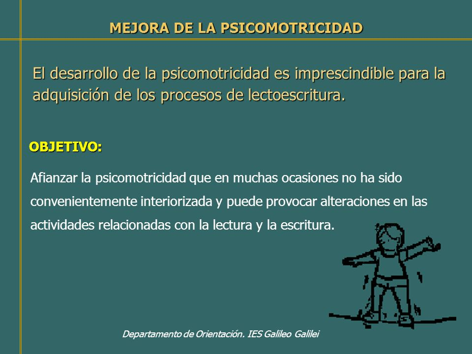 MEJORA DE LA PSICOMOTRICIDAD