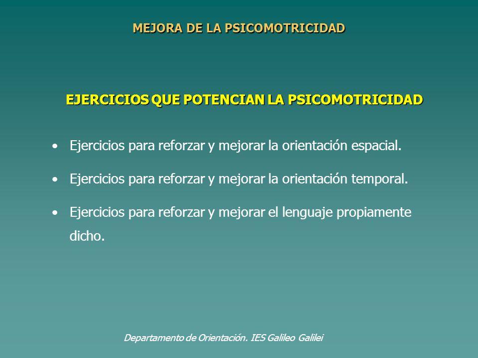 EJERCICIOS QUE POTENCIAN LA PSICOMOTRICIDAD