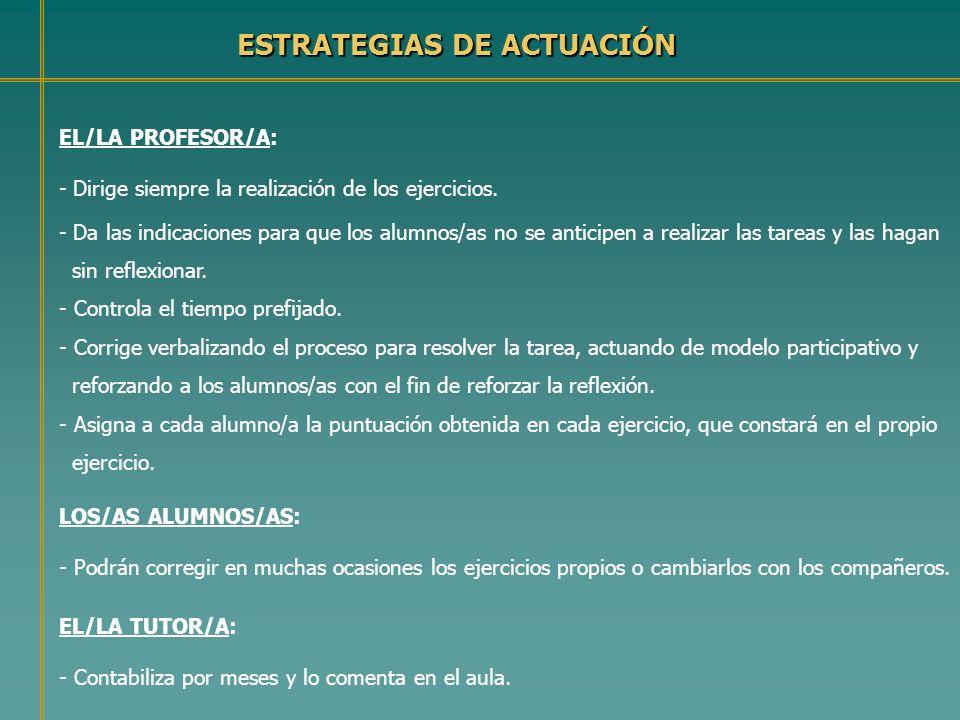 ESTRATEGIAS DE ACTUACIÓN