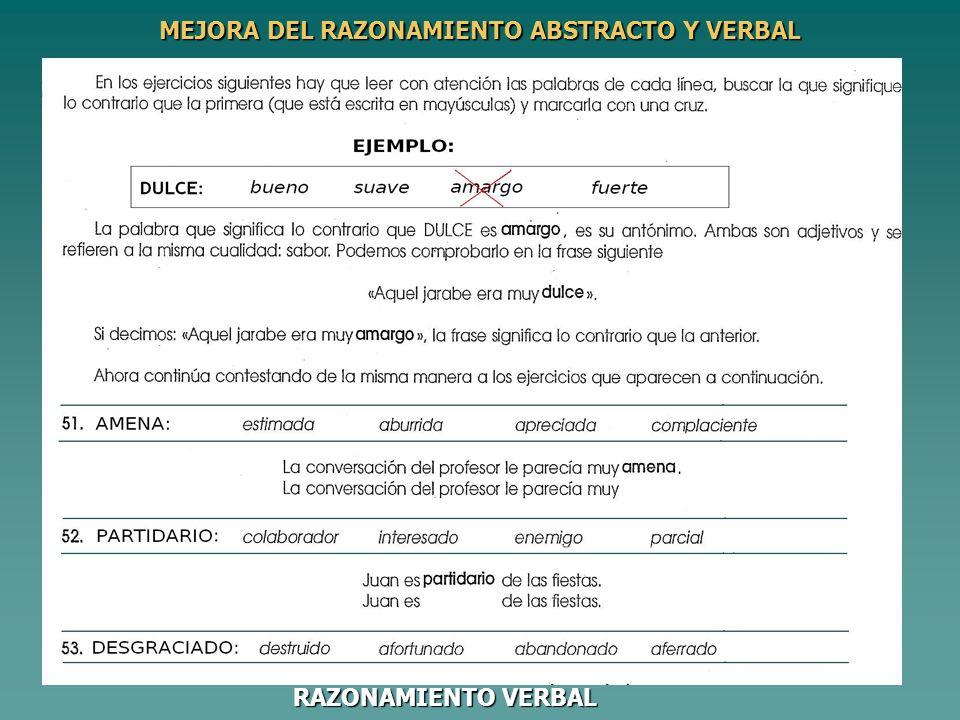MEJORA DEL RAZONAMIENTO ABSTRACTO Y VERBAL