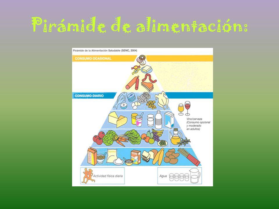 Pirámide de alimentación: