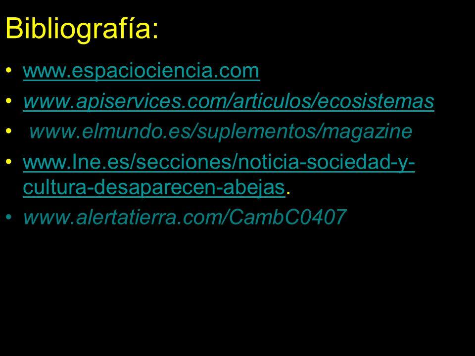 Bibliografía: www.espaciociencia.com