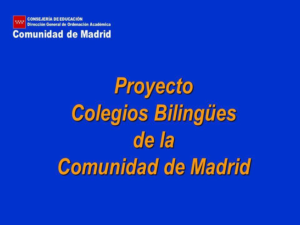 Proyecto Colegios Bilingües de la Comunidad de Madrid