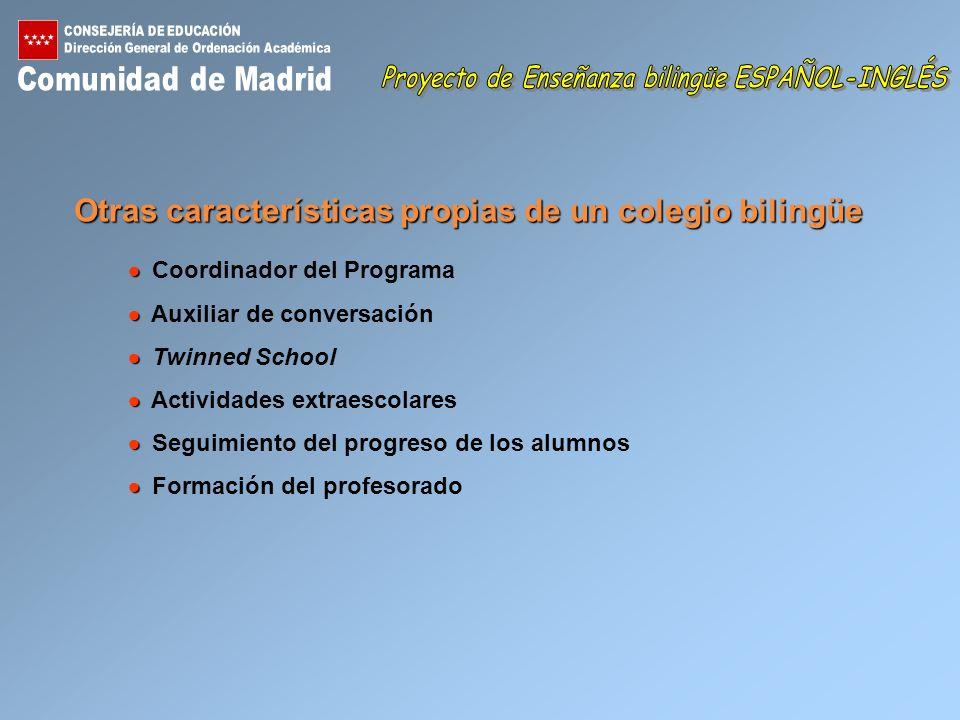 Proyecto de Enseñanza bilingüe ESPAÑOL-INGLÉS