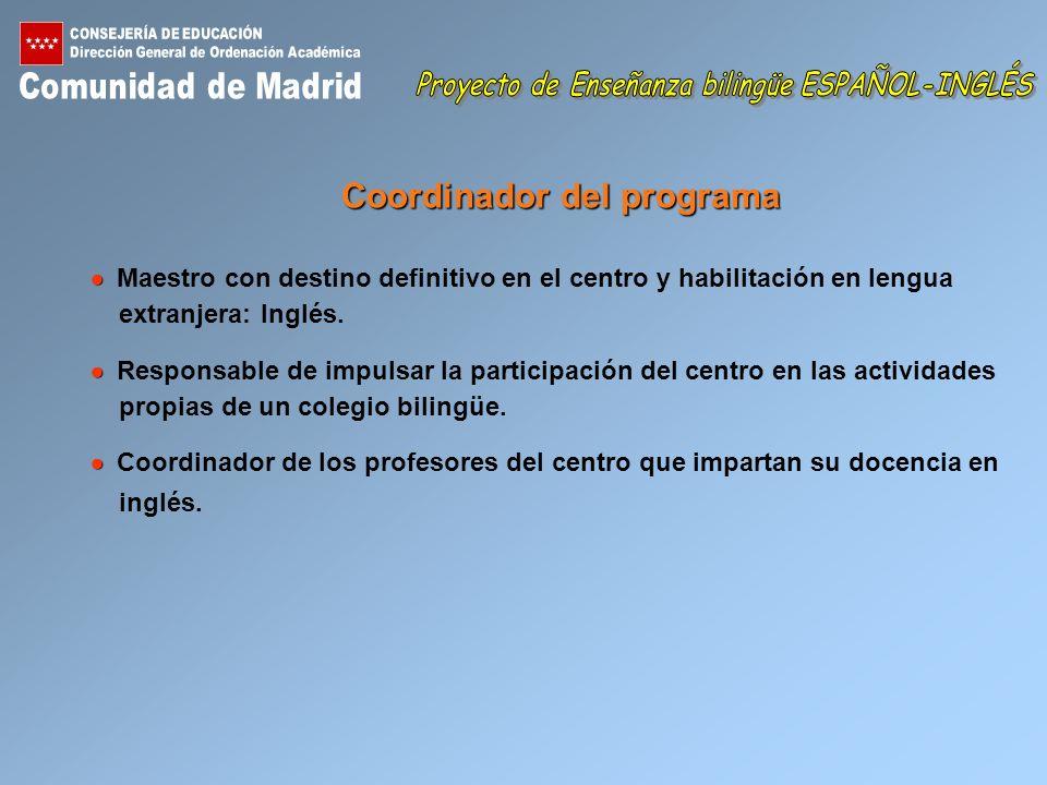 Coordinador del programa