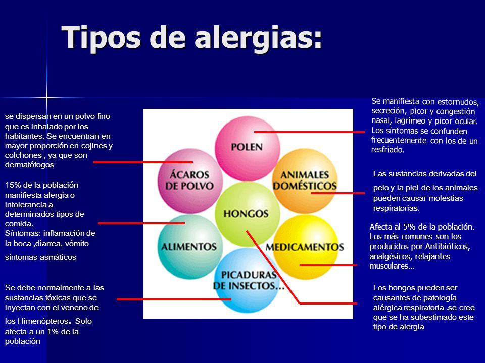 Tipos de alergias: