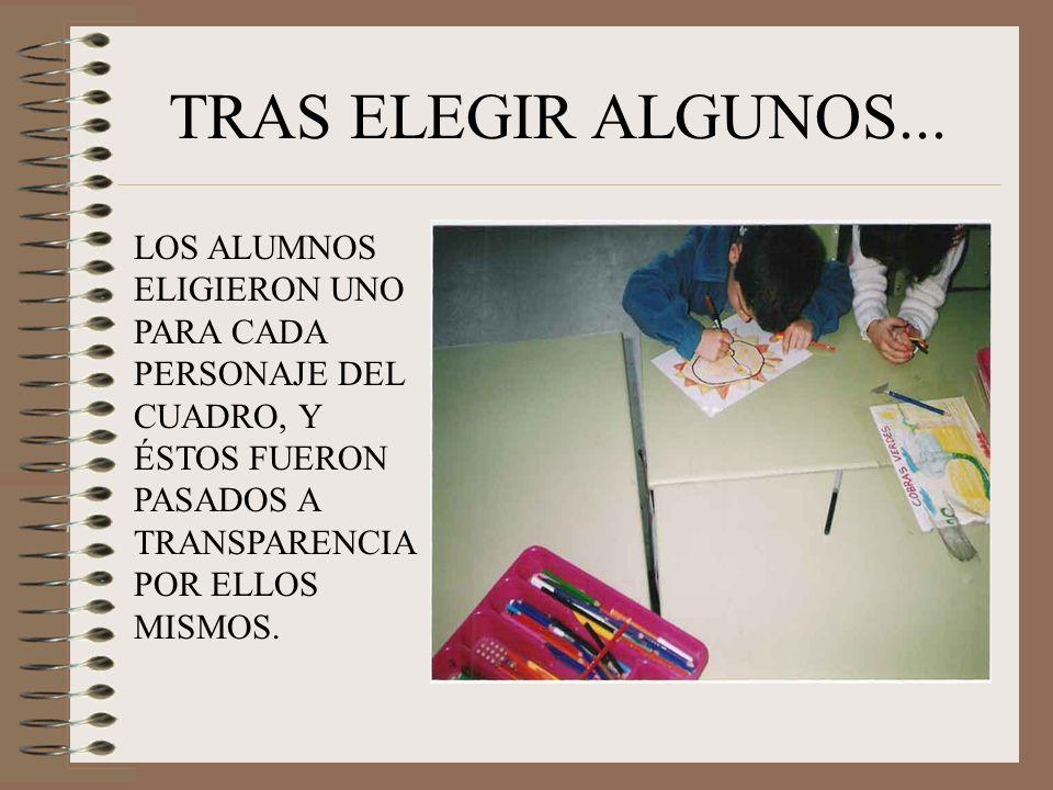 TRAS ELEGIR ALGUNOS...