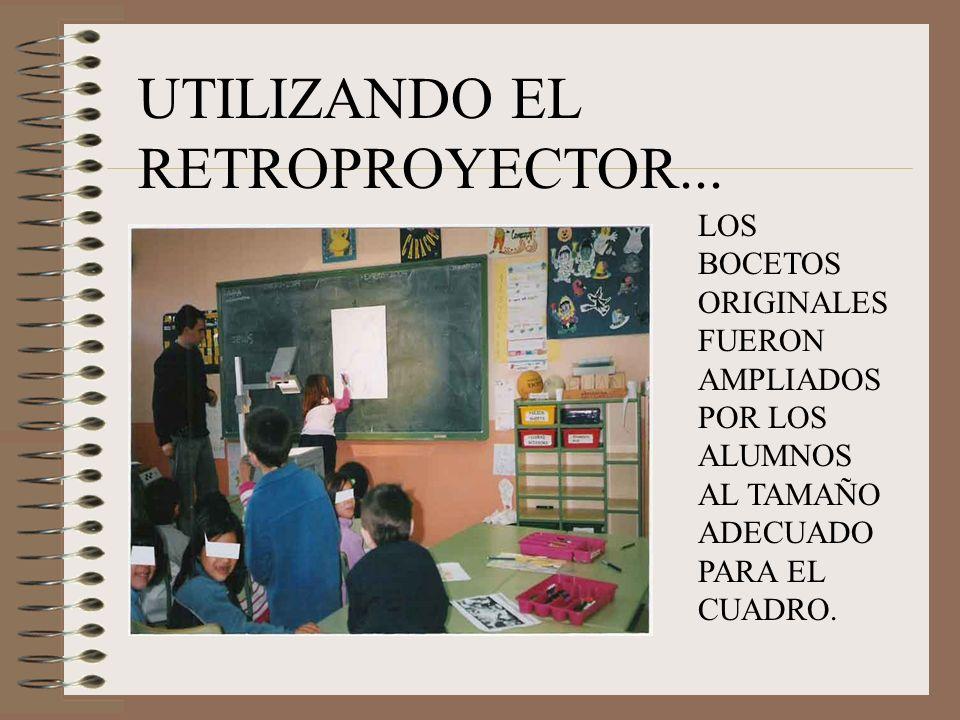 UTILIZANDO EL RETROPROYECTOR...