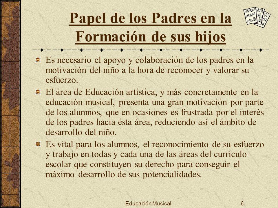 Papel de los Padres en la Formación de sus hijos