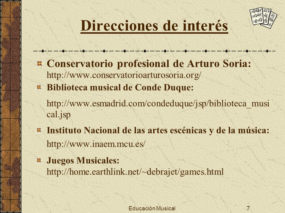 Direcciones de interés