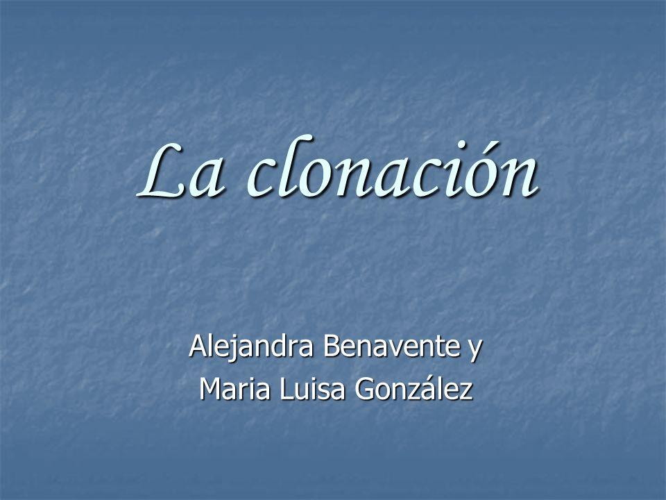 Alejandra Benavente y Maria Luisa González