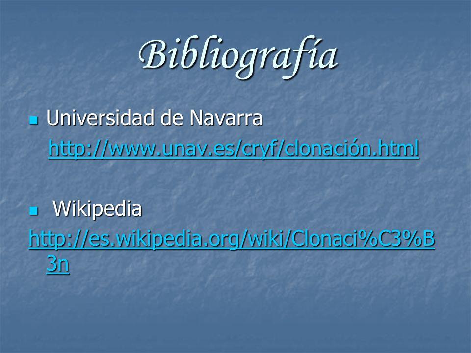 Bibliografía Universidad de Navarra